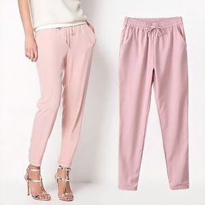 EXPRESS Light pink ankle mid rise pants